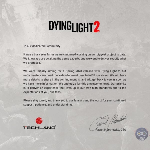Dying Light 2 renvoyé