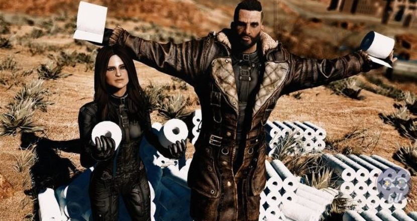 Una mod di Fallout 4 consente di accumulare rotoli di carta igienica per far fronte al Coronavirus
